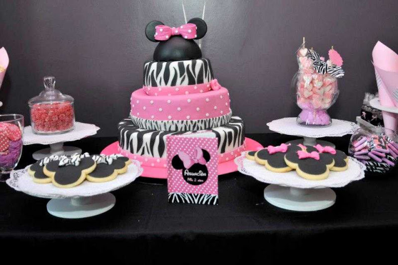 Fiesta de Minnie en animal print - Imagui