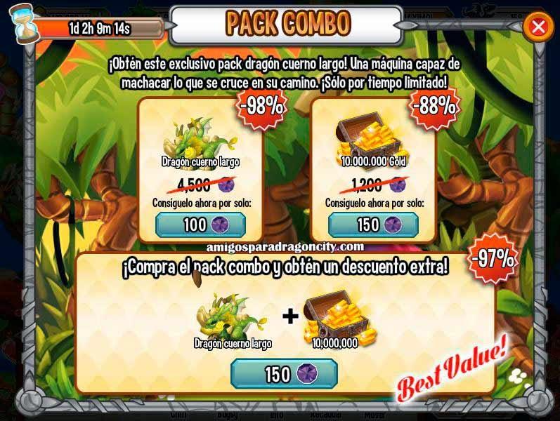 imagen de la oferta especial del dragon cuerno largo de dargon city
