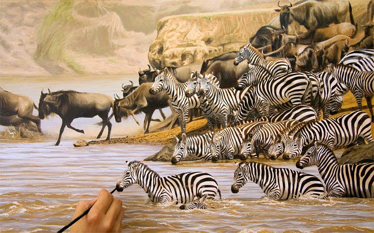 Painted animals migration