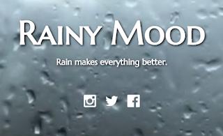 Rainy mood to create content