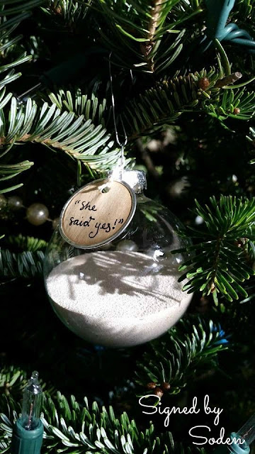 Proposal Christmas ornament