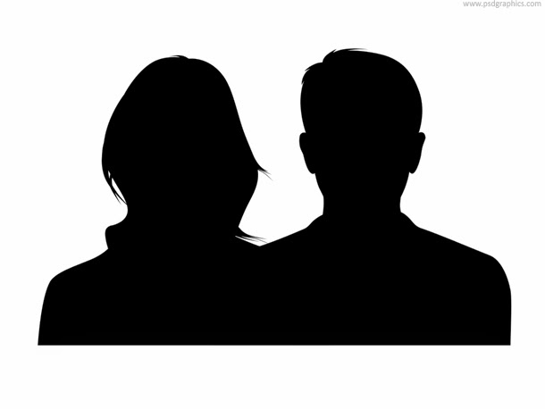 Male and Female Silhouette PSD