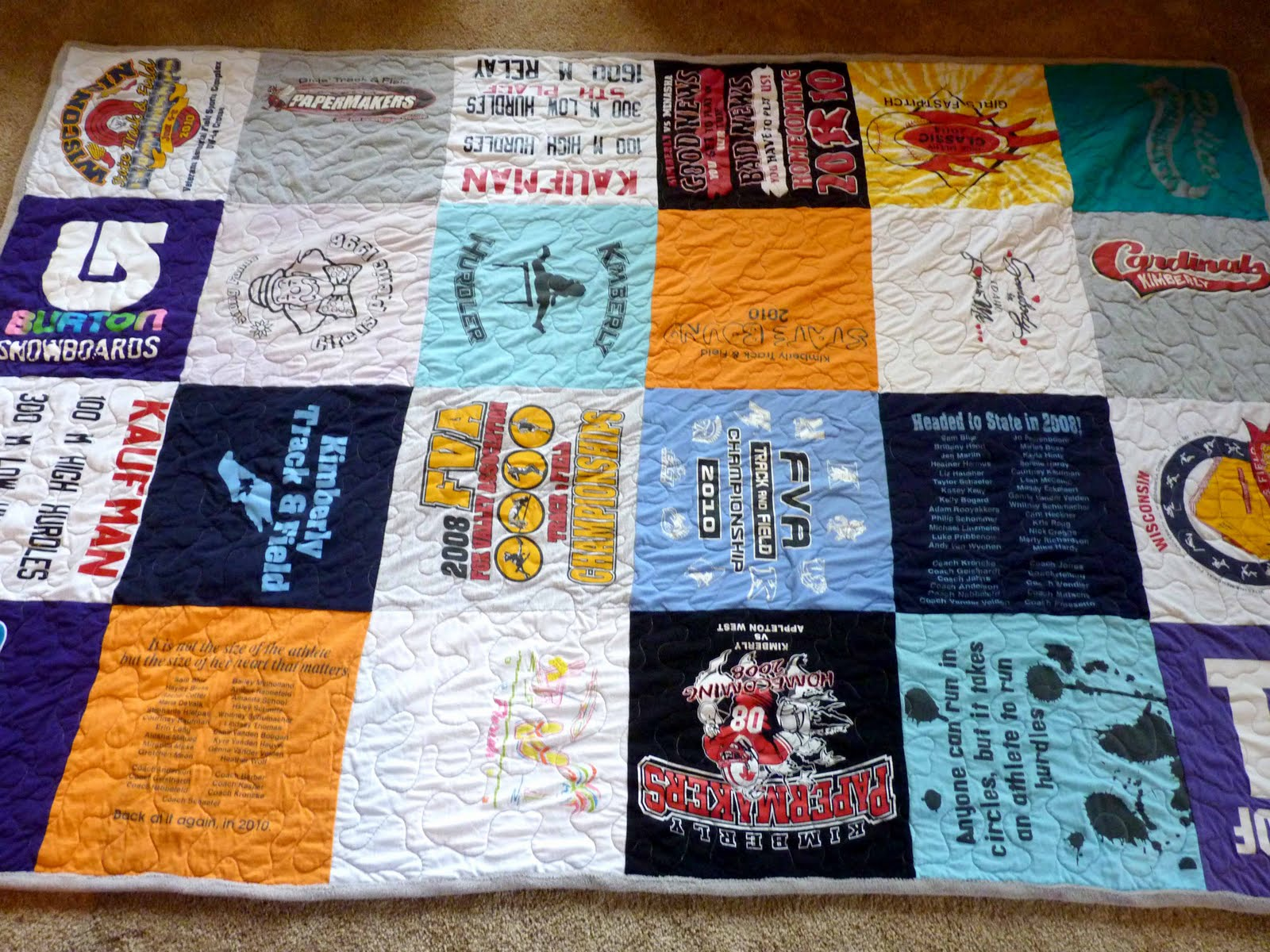 Jerisew S Tee Shirt Quilt Complete