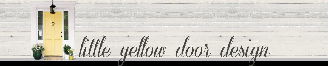 little yellow door design
