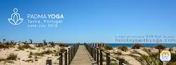 Retiros de Yoga no Algarve, Tavira em Pedras del Rey, a 5 minutos da praia.
