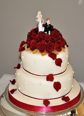 Red Velvet Wedding Cake Decorations