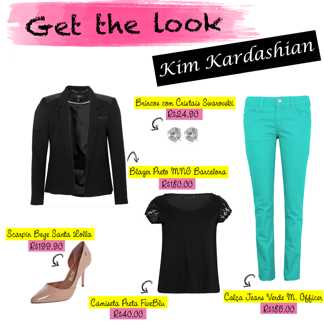 get the look, look, kim kardashian