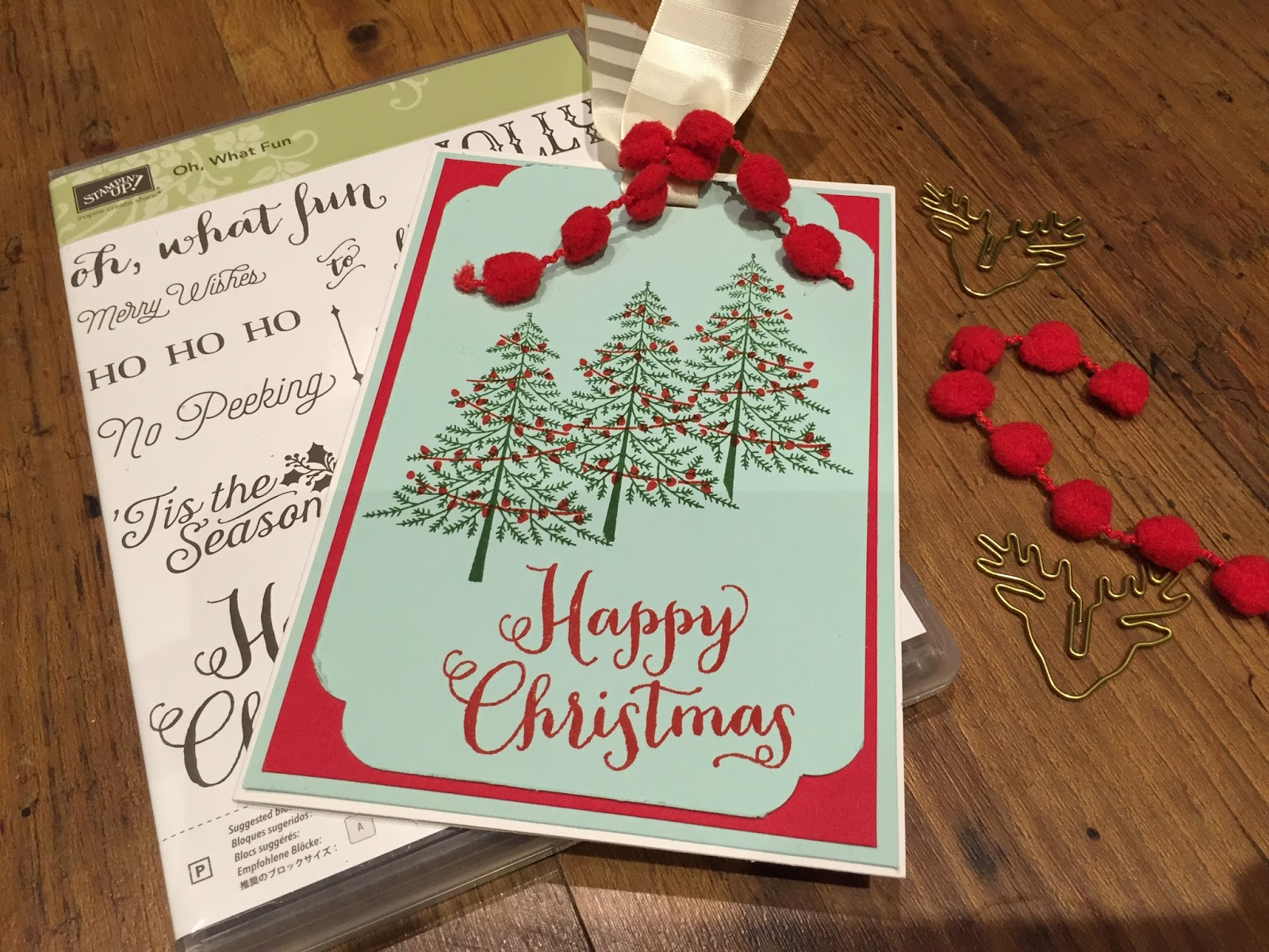 Tracy Abrahams : Christmas Card Using Stampin\' Up! Oh, What Fun ...