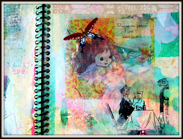 Ophelia S Adornments Blog May 2012: Collage Journal Pages