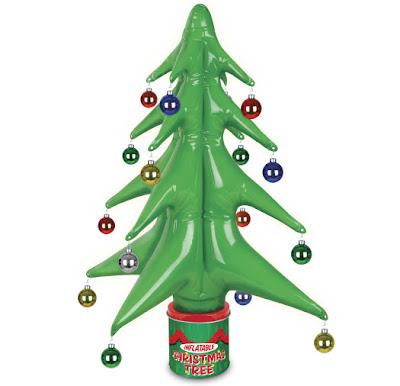 Sinnlose weihnachtsgadgets aufblasbarer baum