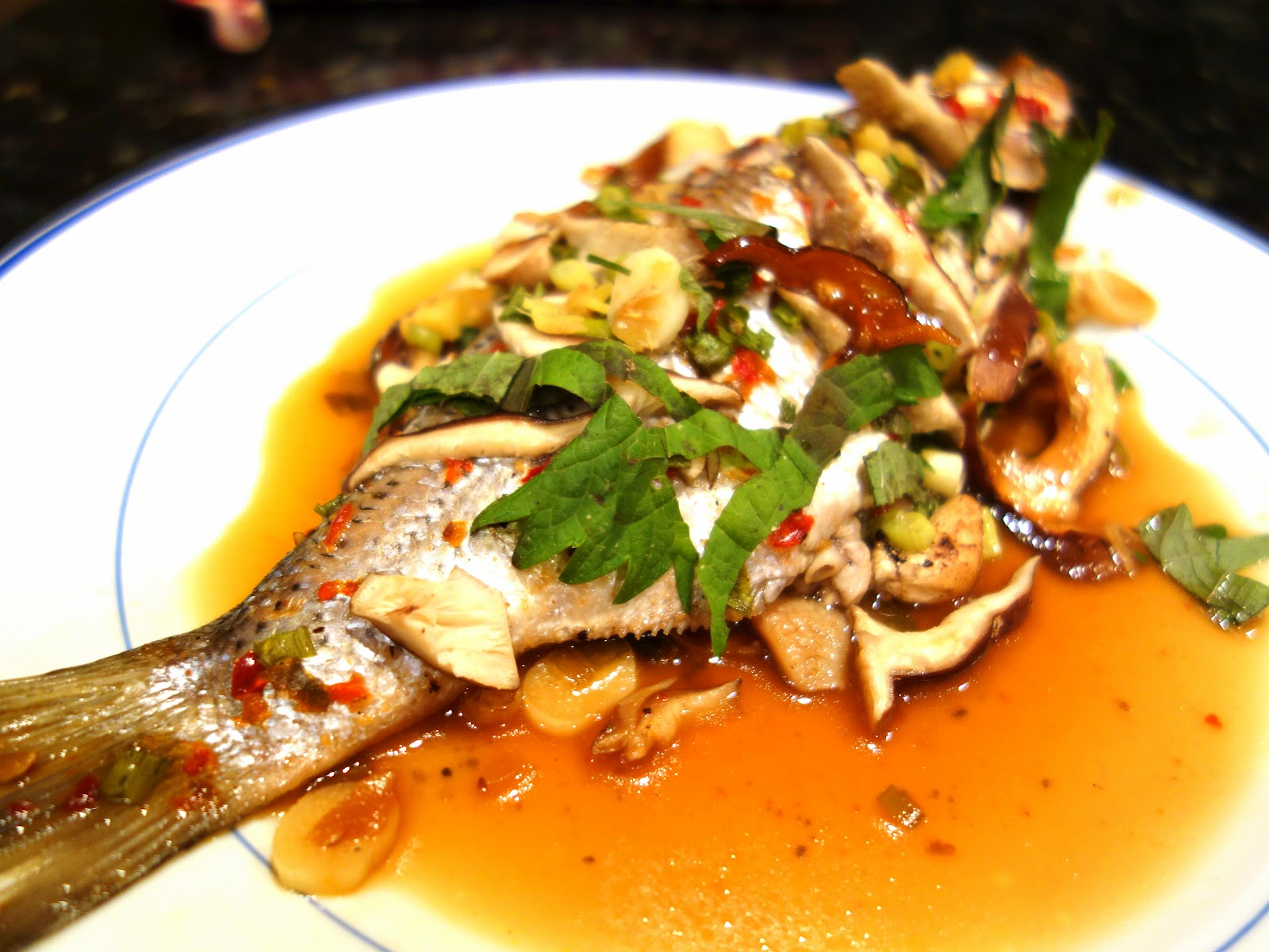 Fresh local and best asian style steamed fish with ginger for How to steam fish