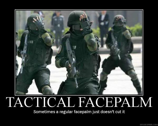 TACTICAL FACE PALM