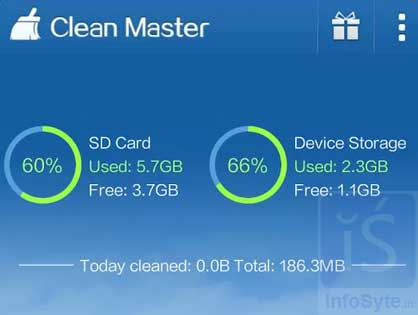 Clean Master (Cache Cleaner,APP2SD, RAM Booster)