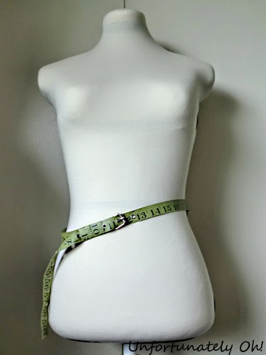 easy measuring tape belt DIY