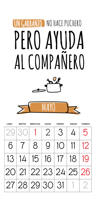 calendario 2013 gratis mayo