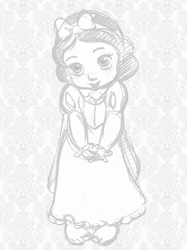 Princesas Disney Bocetos de las Princesas Disney de bebs