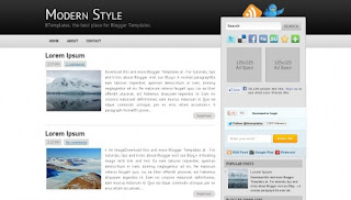 Download Modern Style Blogger Template