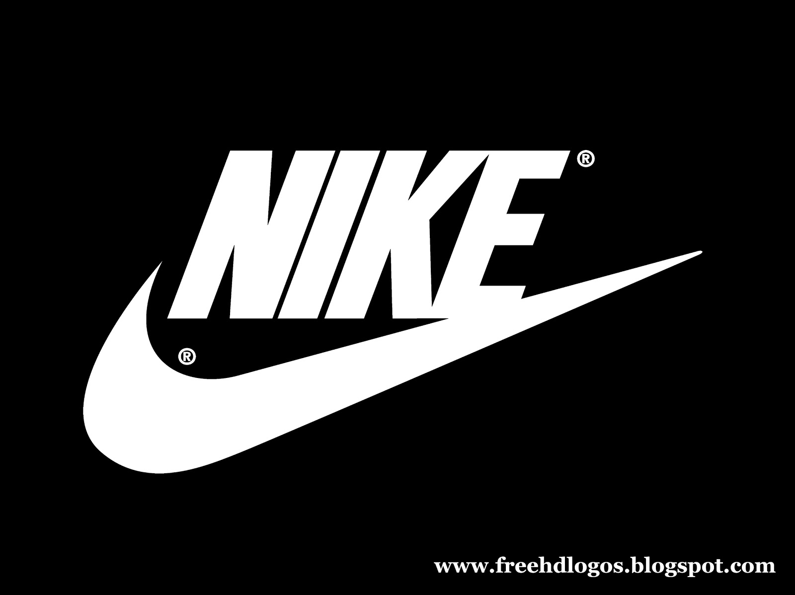 Nike logo dark with Nike name free hd logos