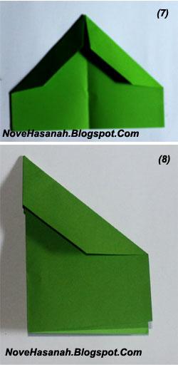 cara membuat origami untuk pemula bentuk pesawat terbang 4