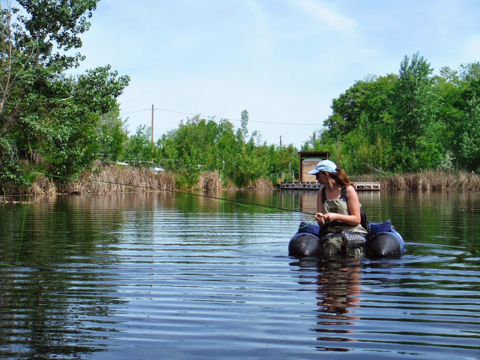 Erik s fly fishing blog fishing with the wife for Bass fishing ponds