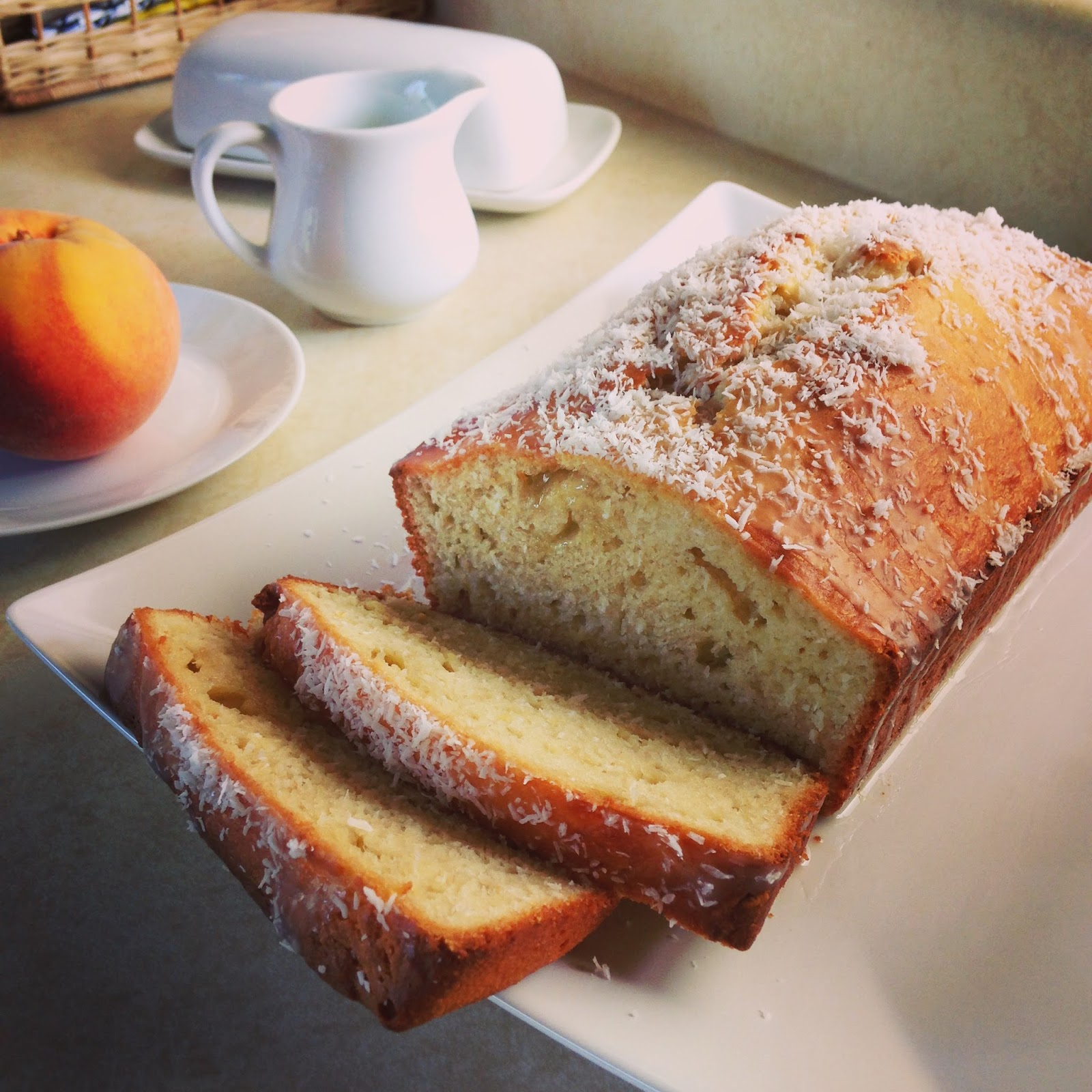 Cultural Cooking: Coconut Banana Bread with Lemon Glaze