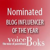 Nominated for Blog Influencer of the Year