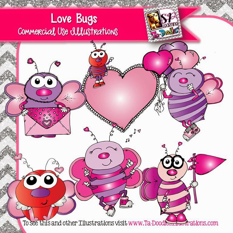 http://www.teacherspayteachers.com/Product/Love-Bugs-Valentines-Day-clip-art-1617287
