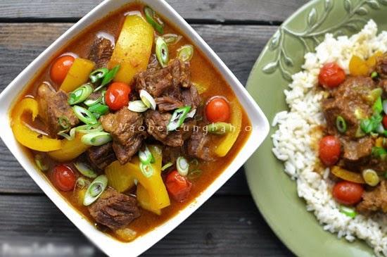 Cách làm thịt bò hầm Cà ri
