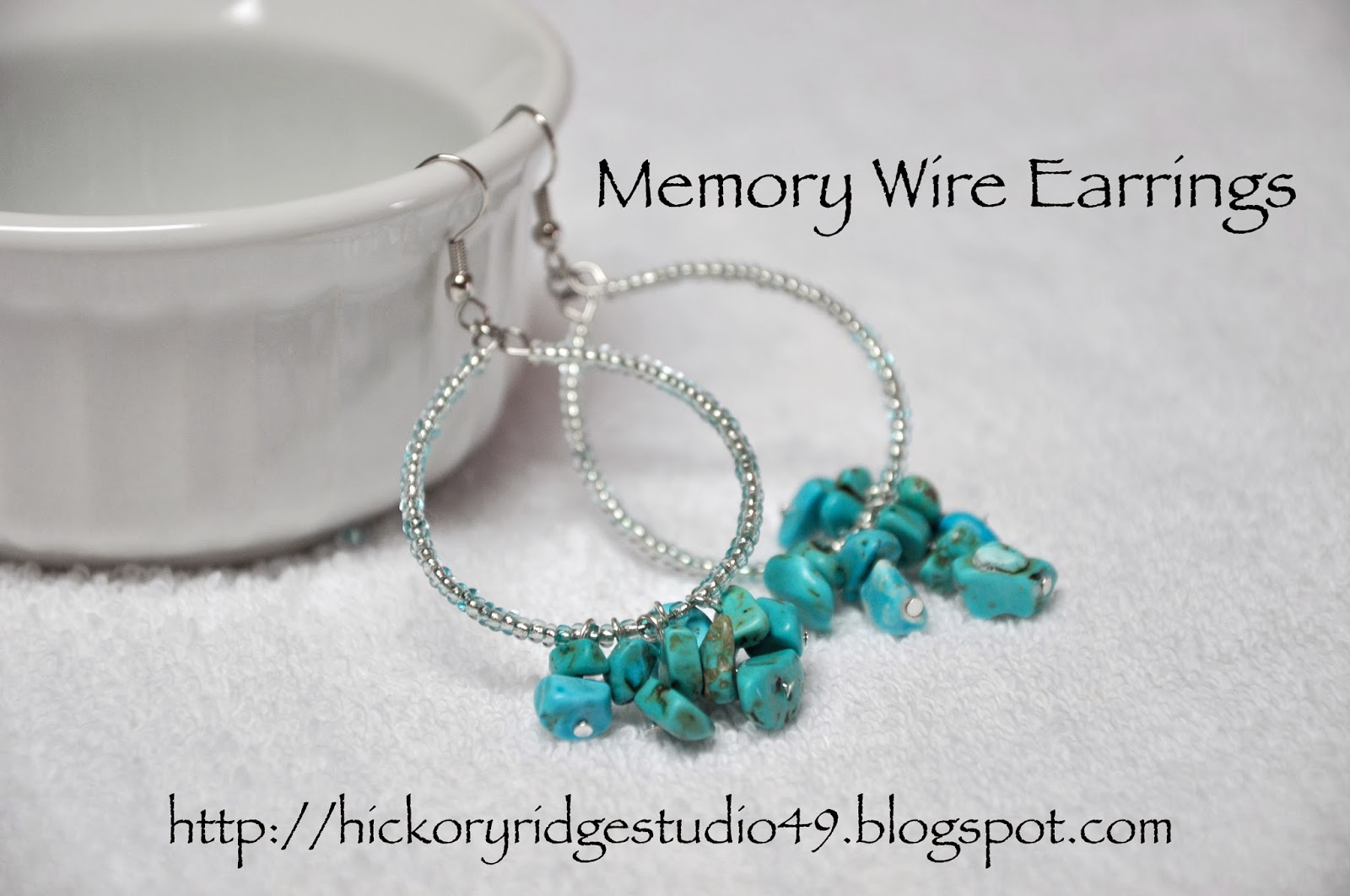 Make it Monday - Memory Wire Earrings