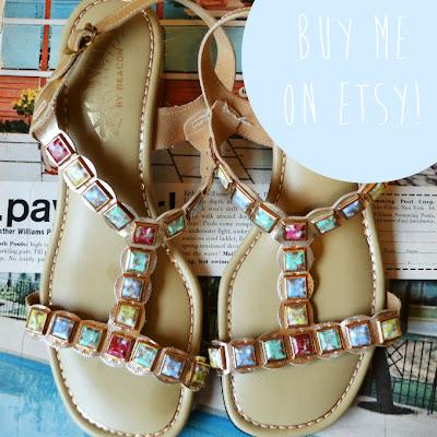 sandals, vintage, etsy, retro, fleur d'elise
