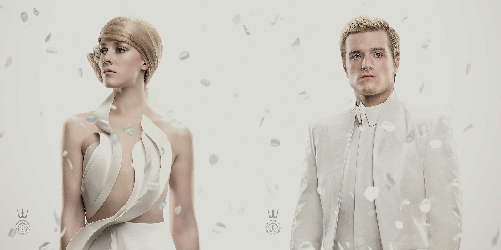 Peeta and Johanna in Capitol Couture Issue Four for Mockingjay