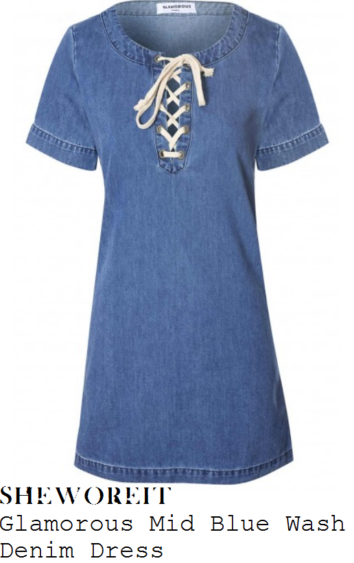 danielle-armstrong-blue-tie-front-detail-denim-dress