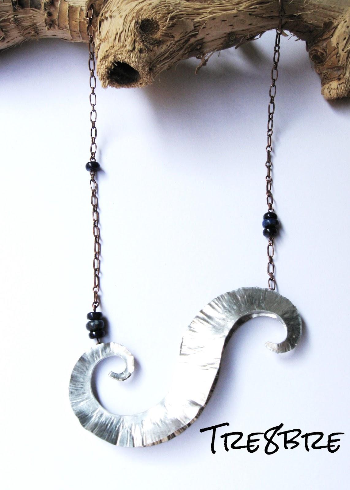 Time Vortex - Aluminium, Lapis lazuli, by Tre8bre