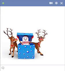 Snowman and reindeer emoticons for Facebook