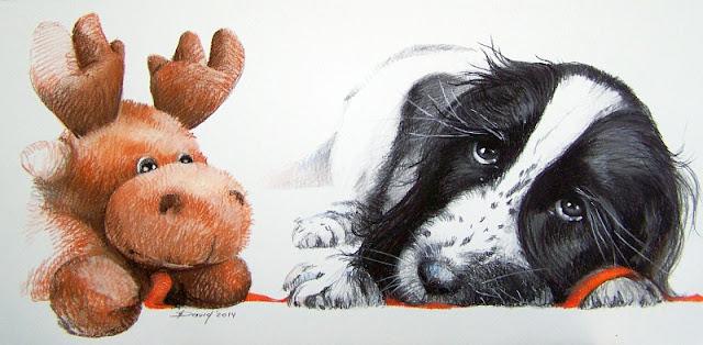 Hundeportrait als Geschenkidee zur Weihnachten