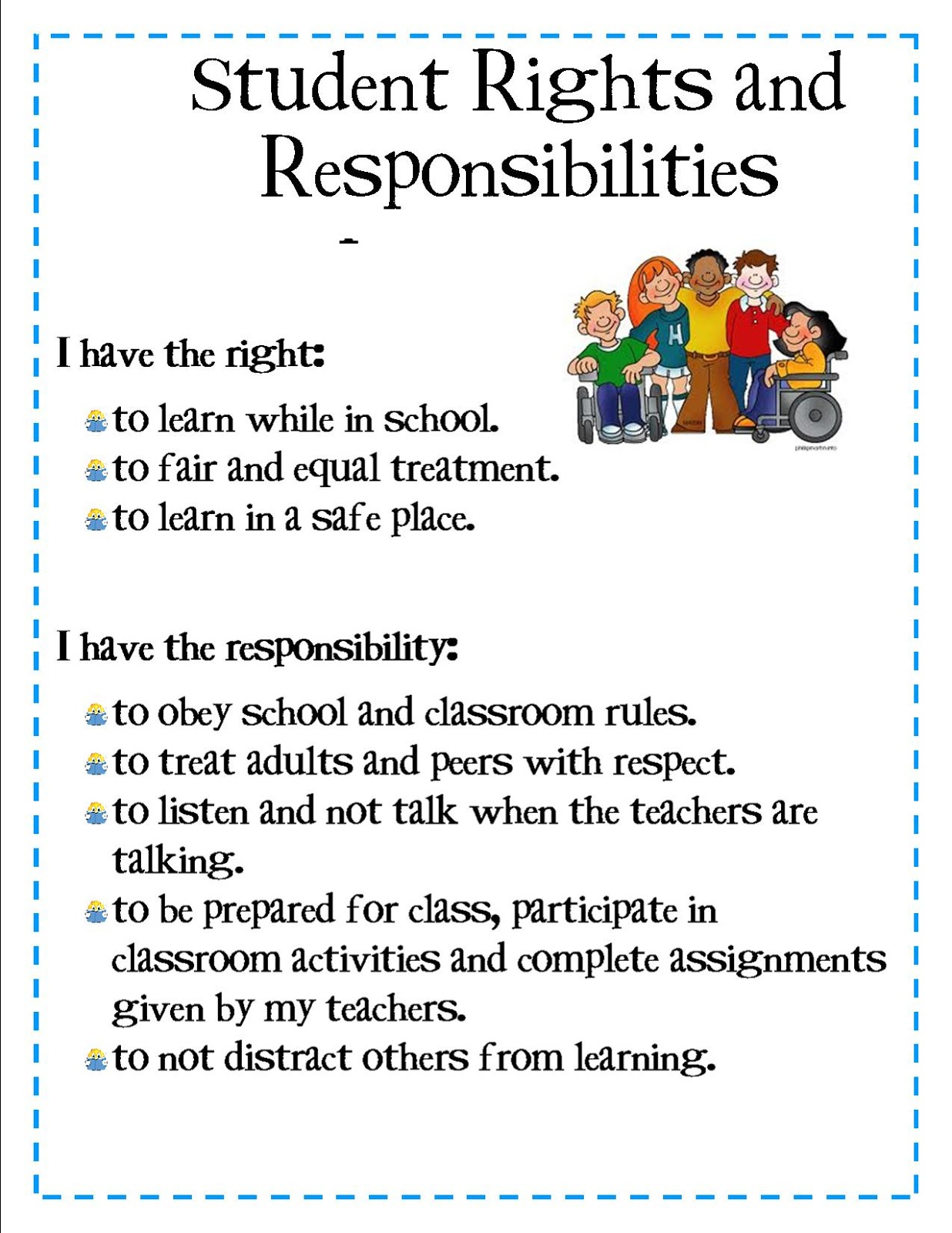 students rights and teachers responsibilities Assignment: students rights and teachers responsibilities scenario choose one of the following issues regarding - answered by a verified writing tutor.