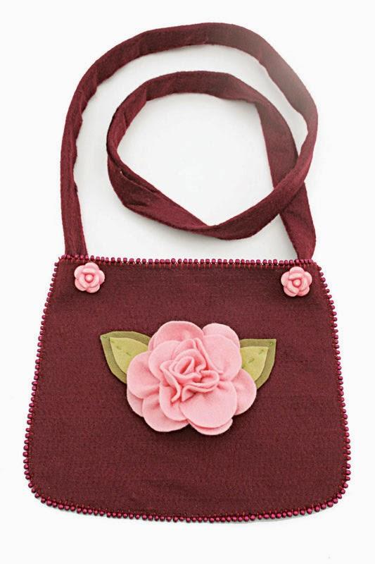 Bolsa Em Feltro Molde : Eu amo artesanato bolsa de feltro