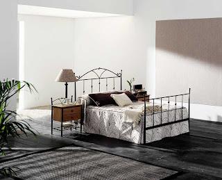 cama de forja, dormitorio forja, cabecero de forja