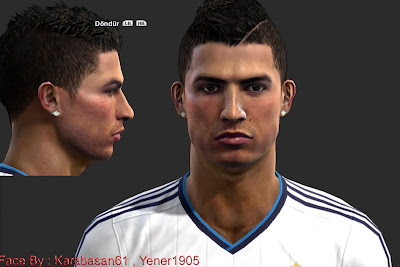 Download Face Cristiano Ronaldo PES 2013