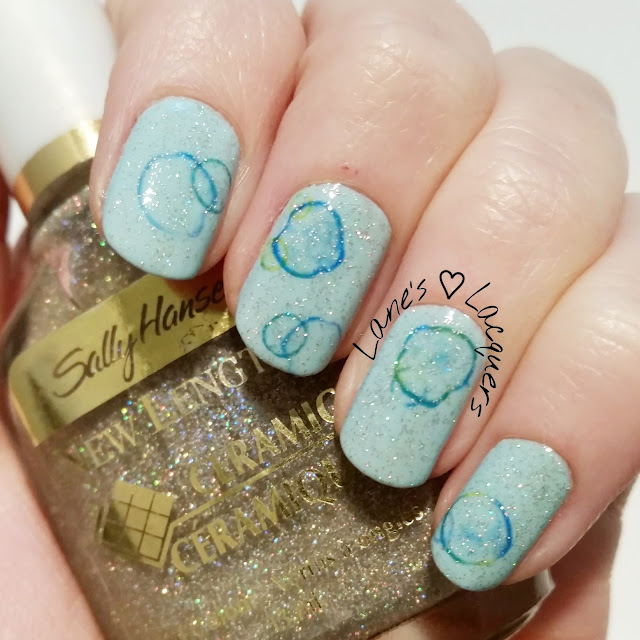 40-great-nail-art-ideas-glitter-topper-water-decals-bubble-nails (2)