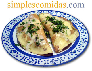 crepes de pollo