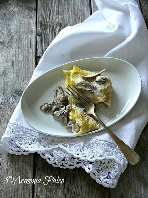 Crêpes al Cocco con Funghi Porcini di Armonia Paleo