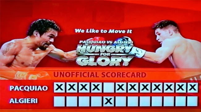 Live Results Pacquiao vs Algieri Round by Round Updates