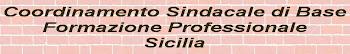 COORDINAMENTO SINDACALE DI BASE FORMAZIONE PROFESSIONALE SICILIA