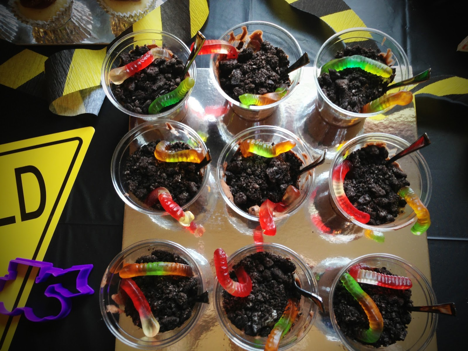 Dirt Pudding Is Fill At Construction Birthday Party