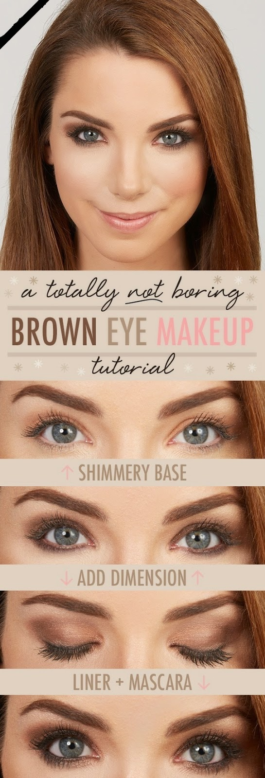 A Totally NOT Boring Brown Eye Makeup Tutorial