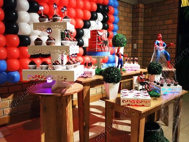 decorção de festa infantil spider man