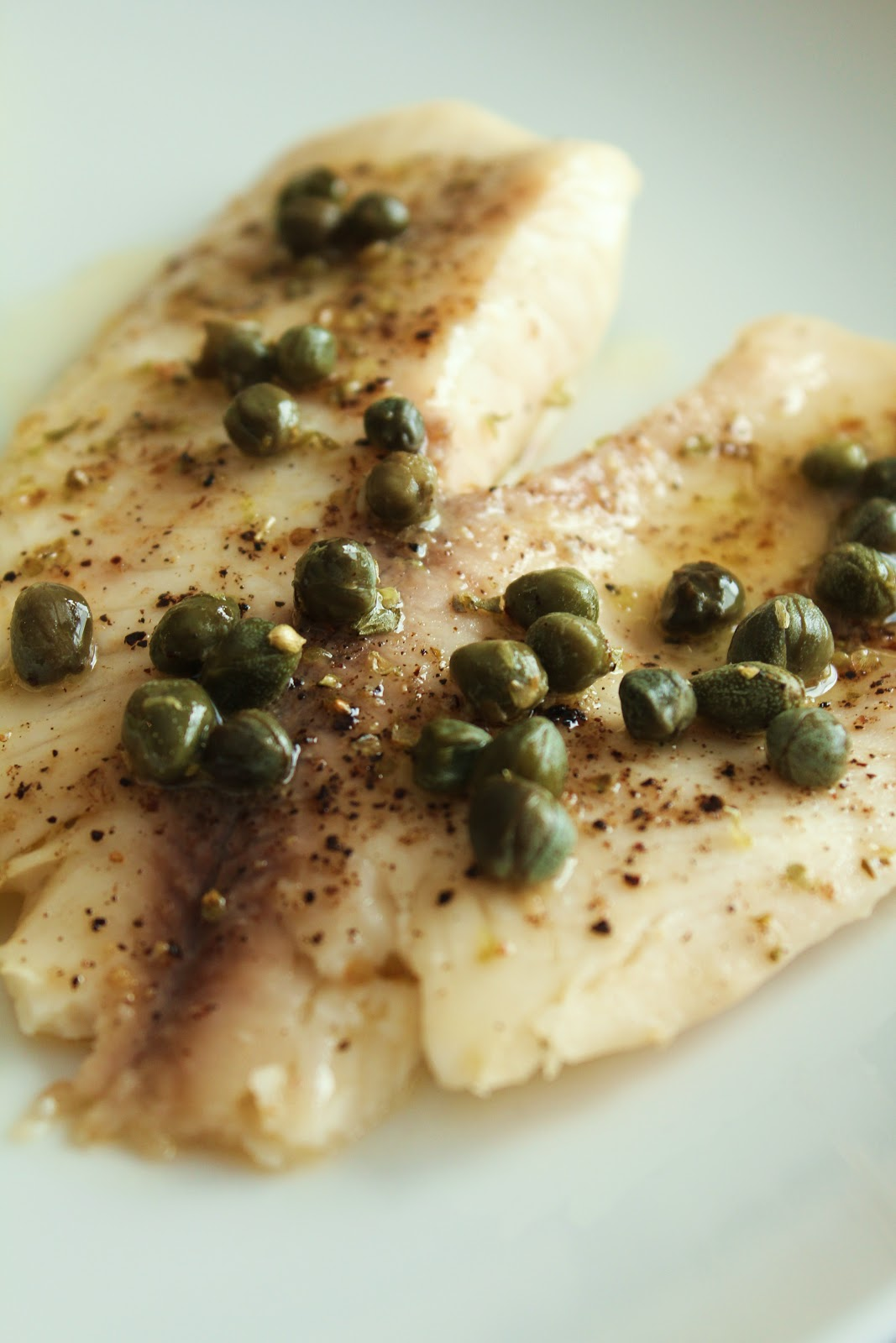Lemon Butter Baked Tilapia With Capers