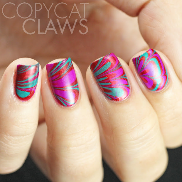 copycat claws red purple