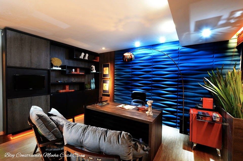 Construindo minha casa clean home office e escrit rios for Escritorios modernos para casa